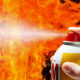 spam cooking spray fire illustration
